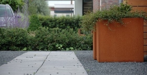 Cortenstaal-Plantenbak-Bloembak