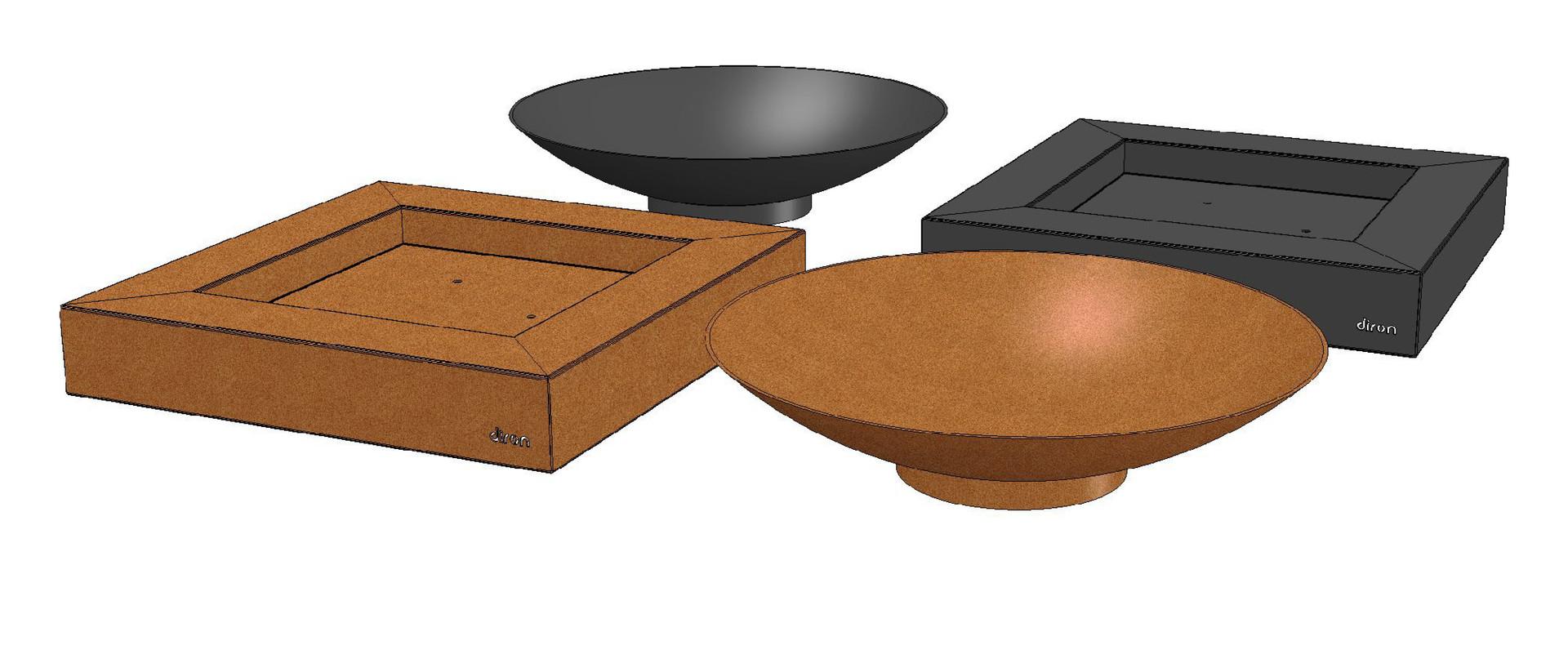 Vuurschaal corten staal diron tuinstaal - Cortenstaal fabrikant ...